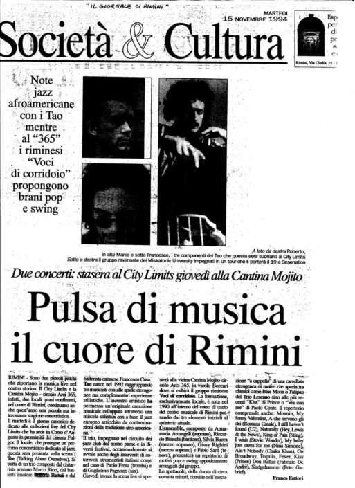 l giornale di RImini 15.11.1994