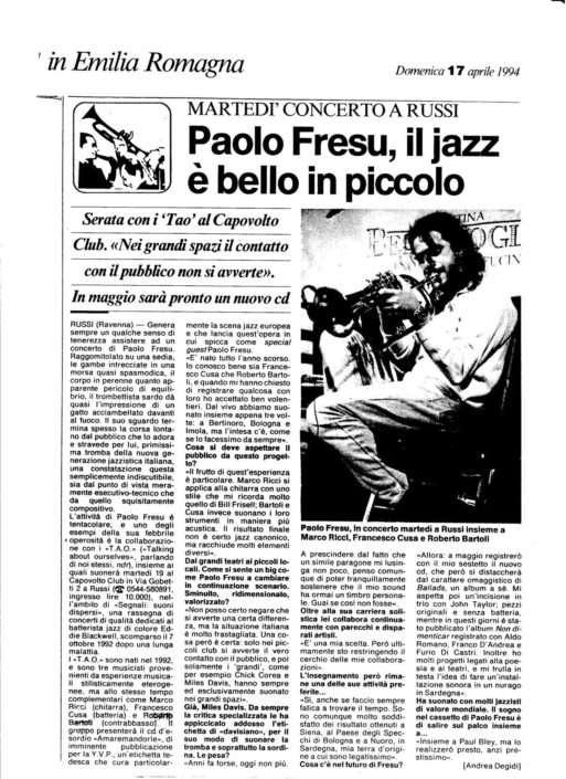 In Emilia Romagna - 14.04.1994